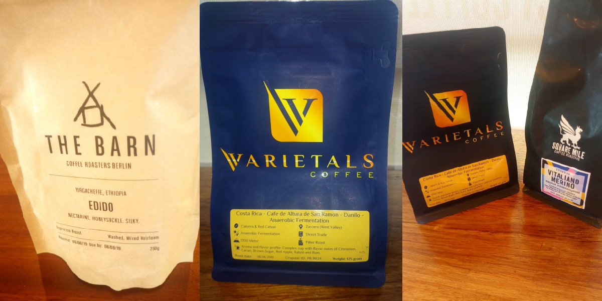 Coffee samples from world of coffee fair 2019 available at Connect Coffee roasters
