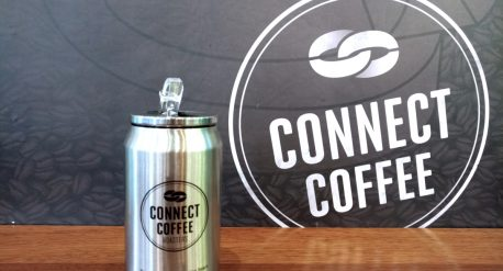 Connect Coffee metal canisters