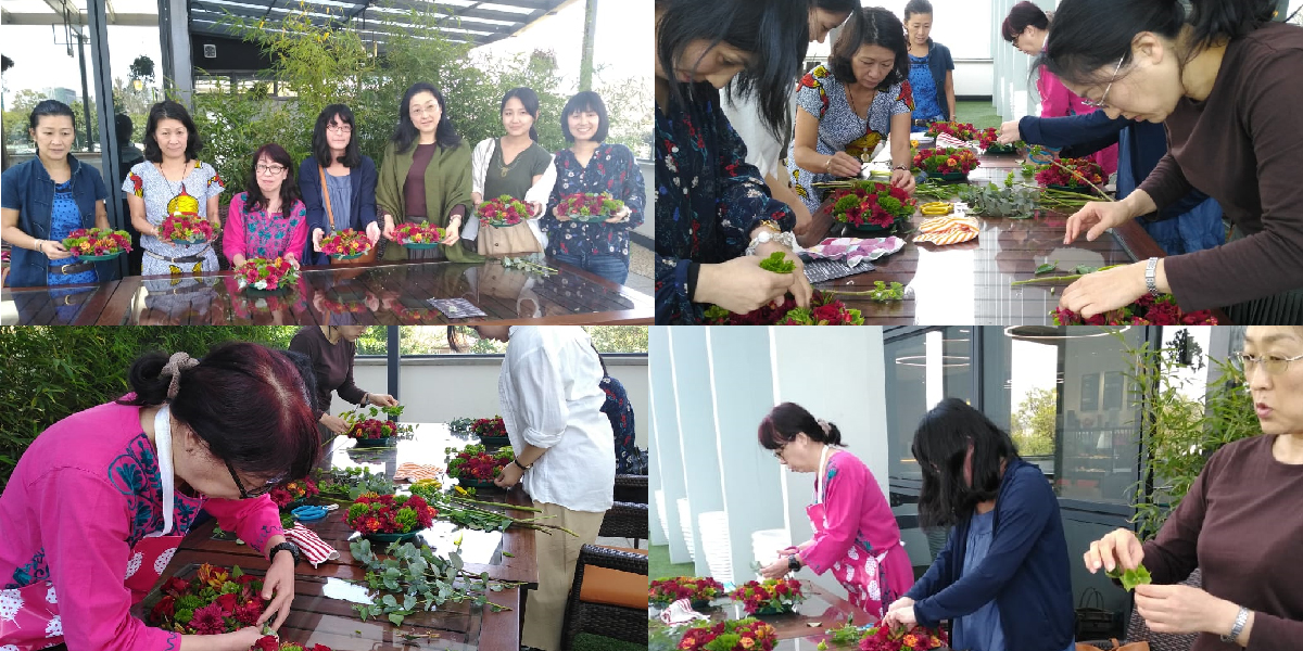 Bahati flower workshop at Connect Coffee Roasters