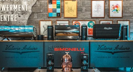 Coffee machine showroom, connect coffee roasters, victoria arduino brand