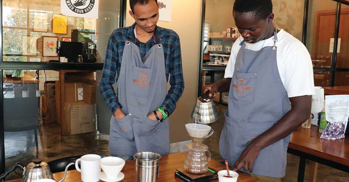 kalita, brewing coffee, kalita brewing, coffee academy, coffee school, one tribe church, disabilities, hario v60, manual brewing, Kenya coffee,